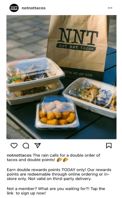 restaurant marketing ideas - customer rewards