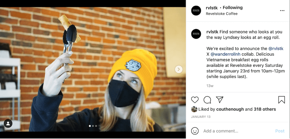 what to post on instagram - brands you love
