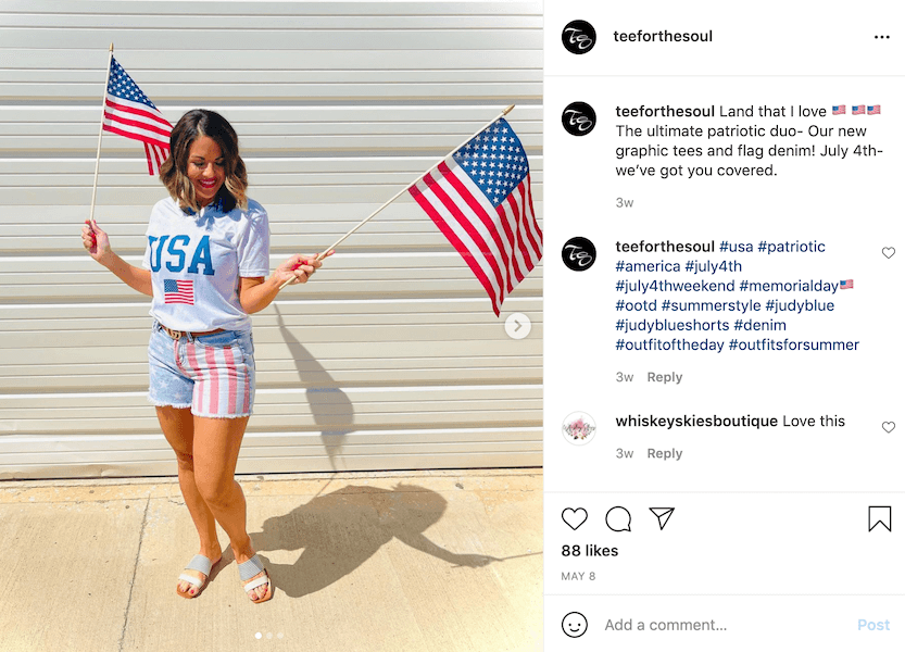 4th of july marketing ideas - show your spirit on social media