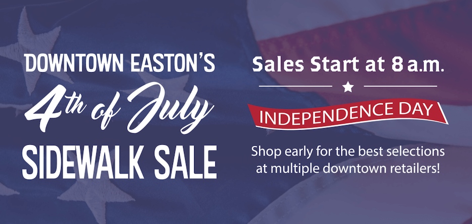 4th of july sales ideas - sidewalk sale