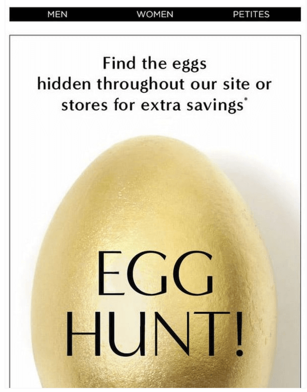 april newsletter example with a virtual egg hunt