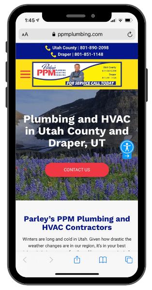 best plumbing websites - mobile