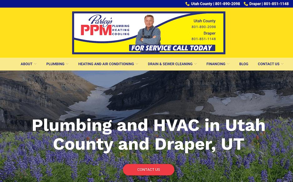 best plumbing websites - ppm plumbing - easy to contact