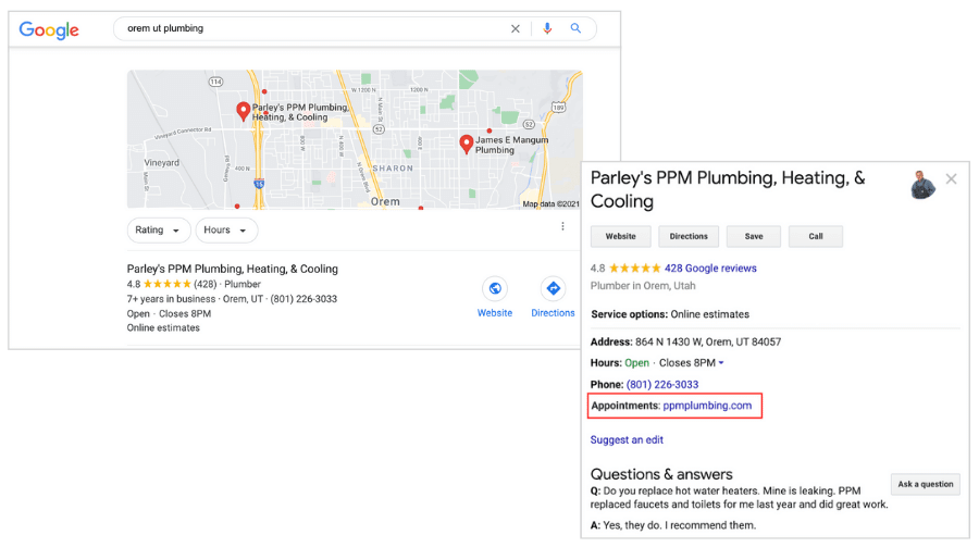 best plumbing websites - ppm plumbing - other marketing and listings