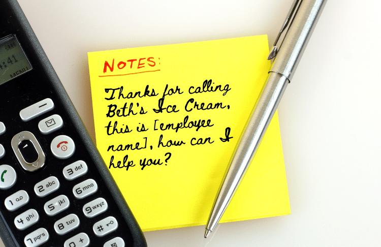 call handling best practices - create a phone script