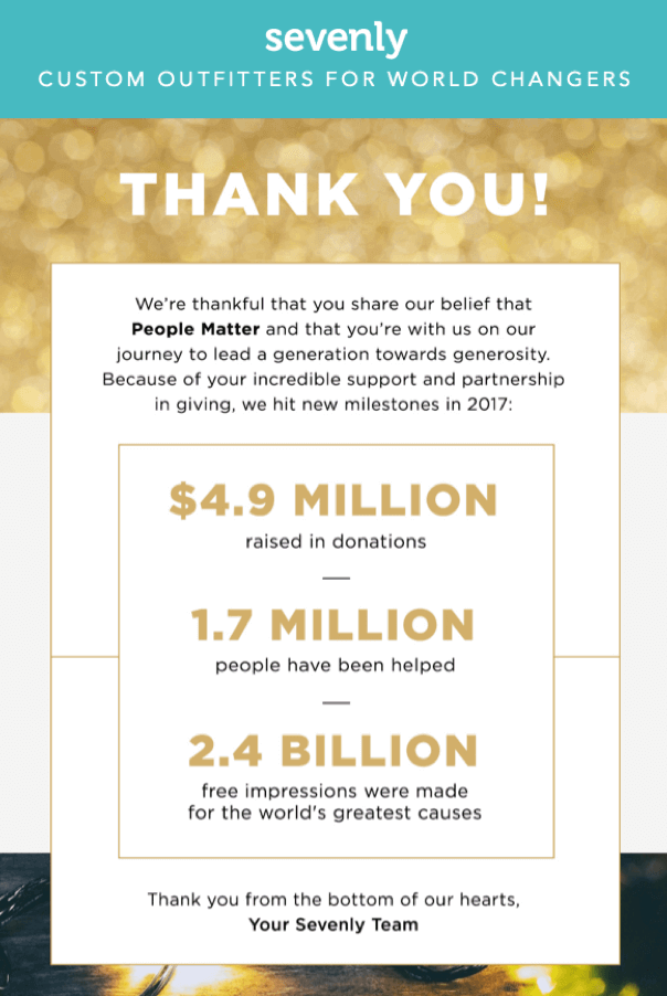 december email newsletter example with the year in review