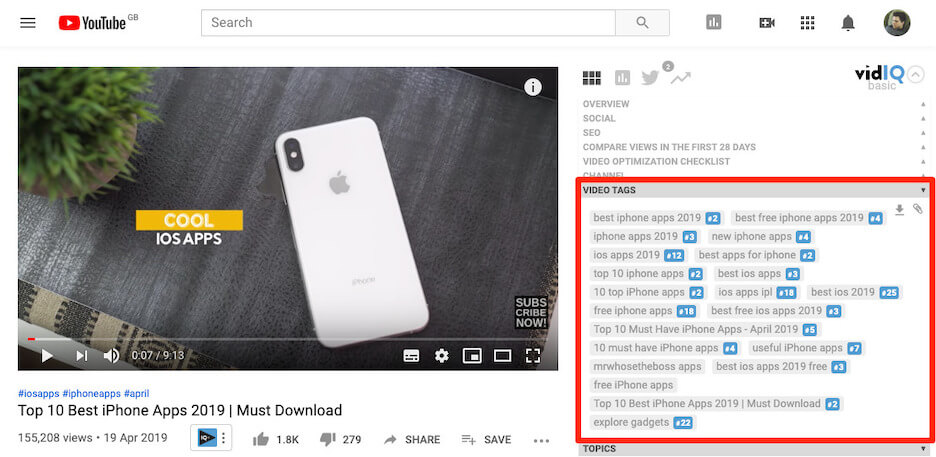 how to promote your youtube channel - use youtube tags