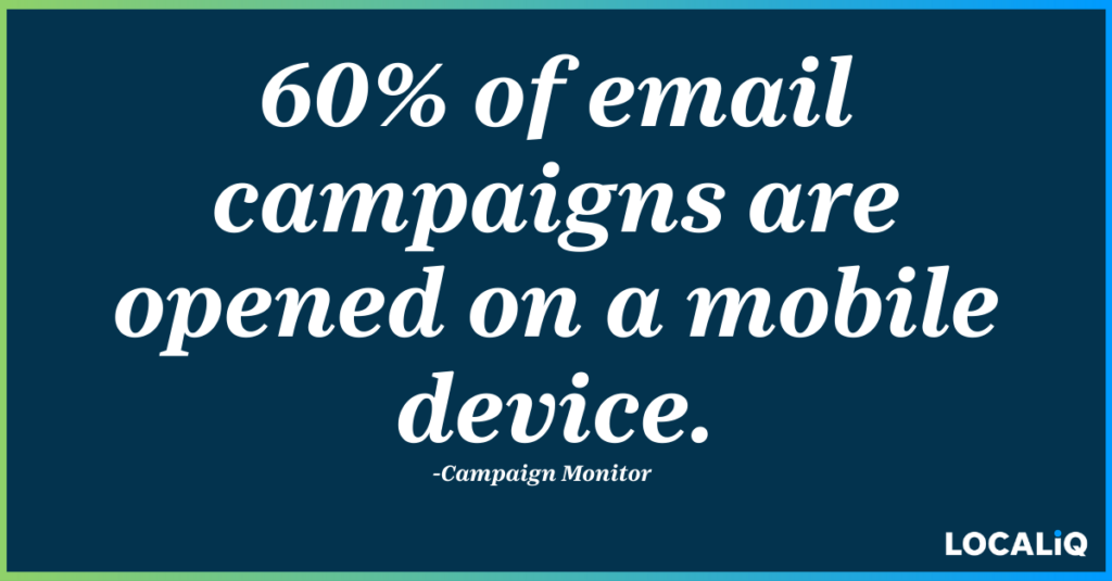 mobile marketing strategies - mobile email campaigns statistic