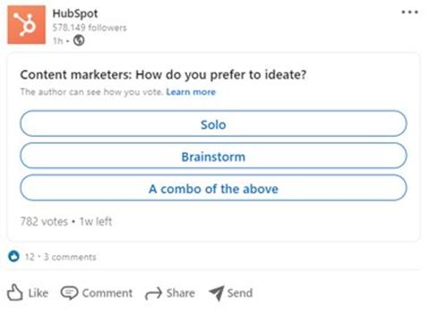 social media hacks - poll social post example