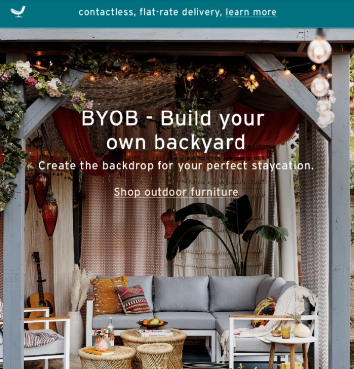 summer marketing ideas - email marketing example
