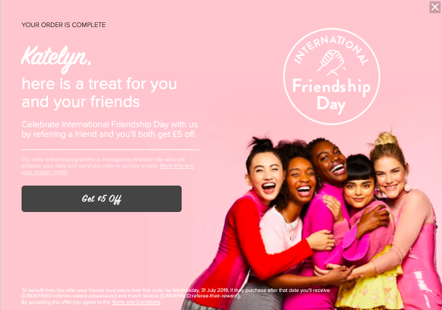 summer marketing ideas - friendship day promotion example