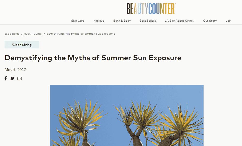 summer marketing ideas - small business summer blog example