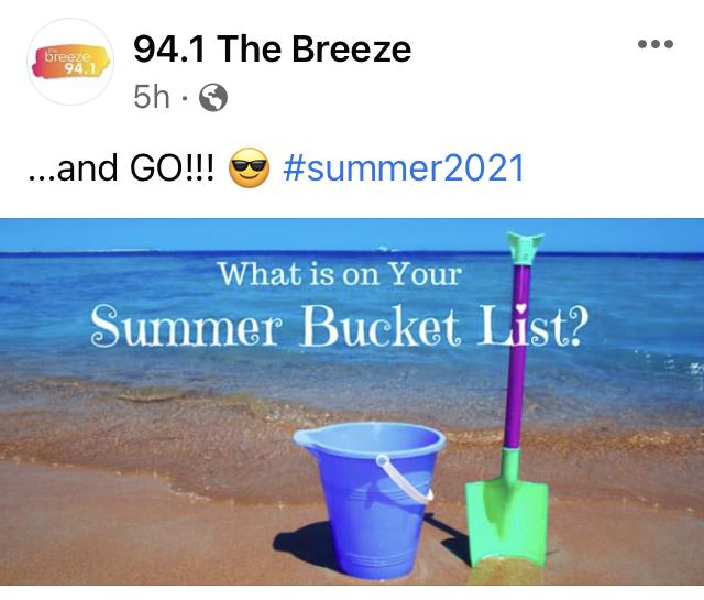 summer marketing ideas - small business summer themed social post