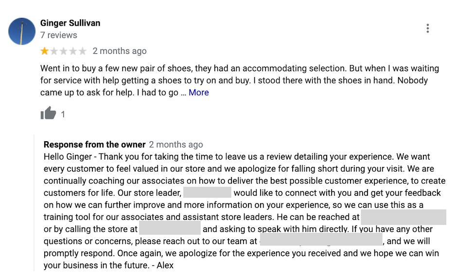 bad reviews - make improvements