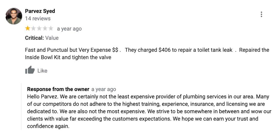 bad reviews - respond to bad reviews