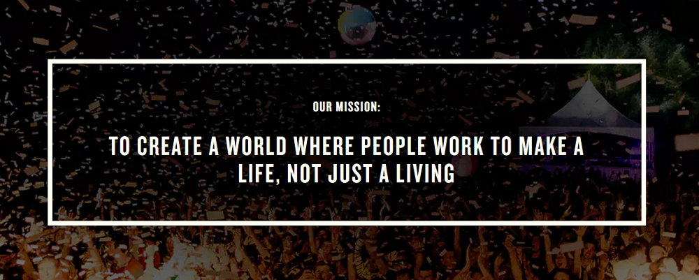 brand consistency - example of a mission statement