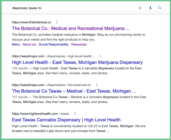 cannabis marketing - invest in local seo for your cannabis business