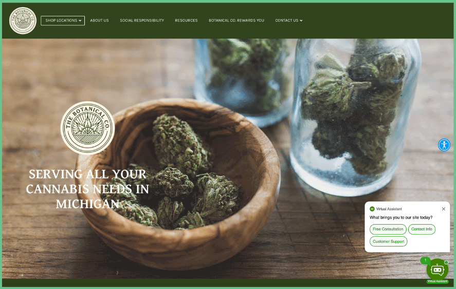 cannabis website for cannabis marketing example