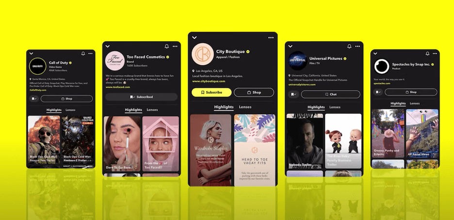 snapchat business accounts are free to set up