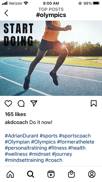 olympic marketing ideas - olympic social media post example
