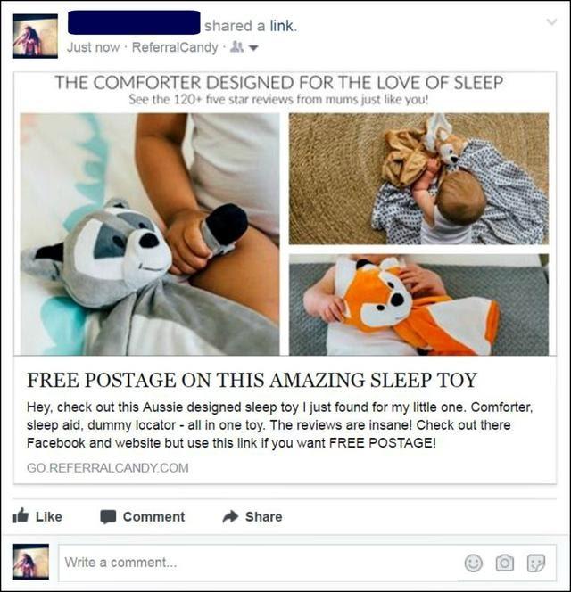 referral program - facebook post example
