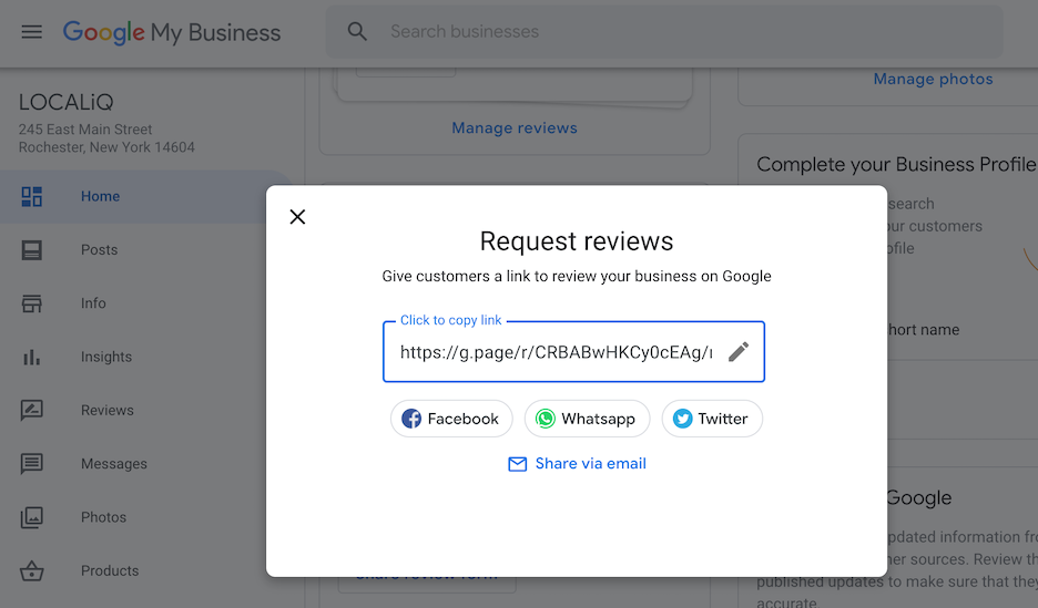 search visibility - using google my business to build reviews