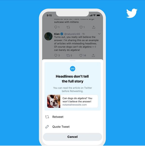 twitter updates - nudges example