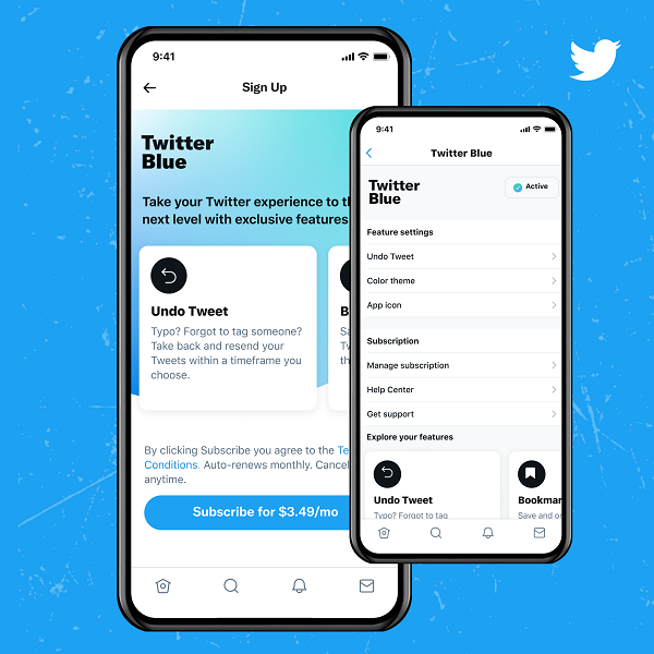 twitter updates - twitter blue subscription example