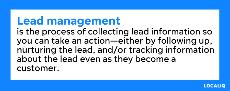 what is lead management - lead management defined