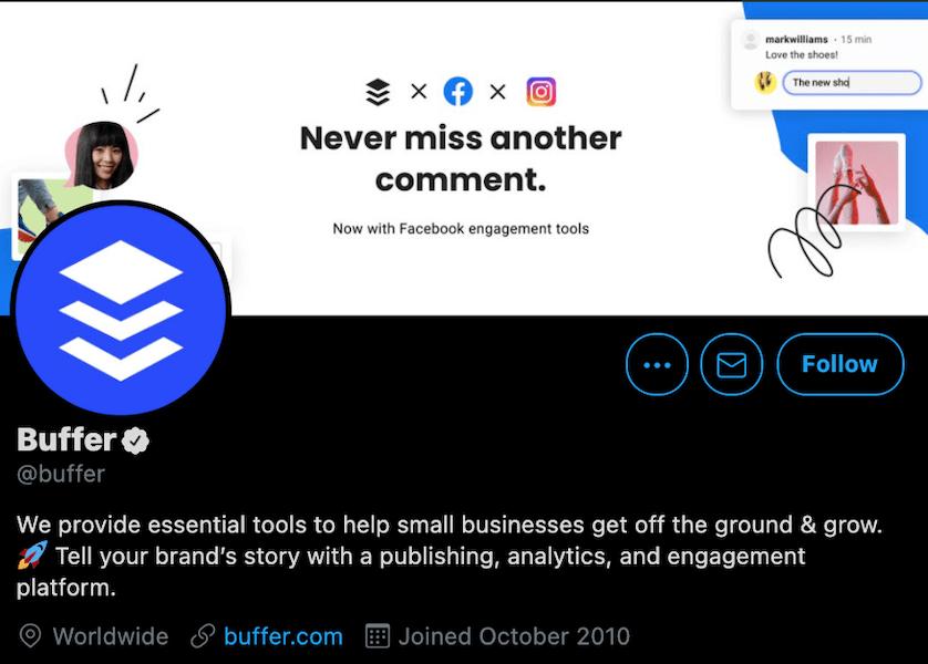 buffer twitter business description