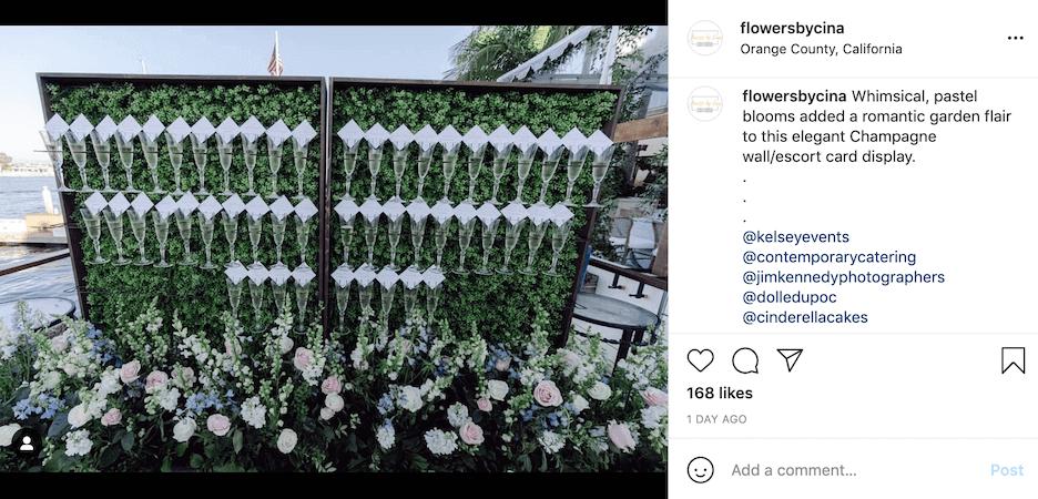 florist instagram captions - event promotion