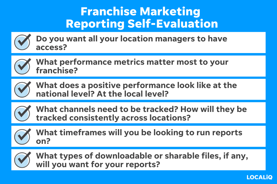 franchise marketing - how to choose a reporting system in franchise marketing