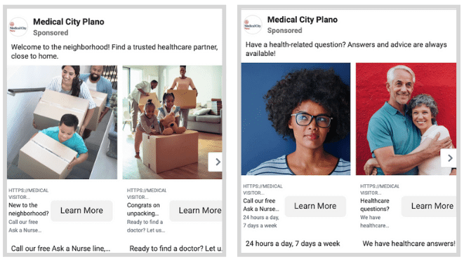 healthcare social ads - segment your audience