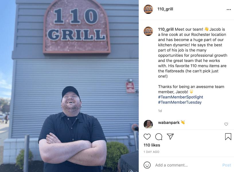 instagram caption ideas - employee spotlights