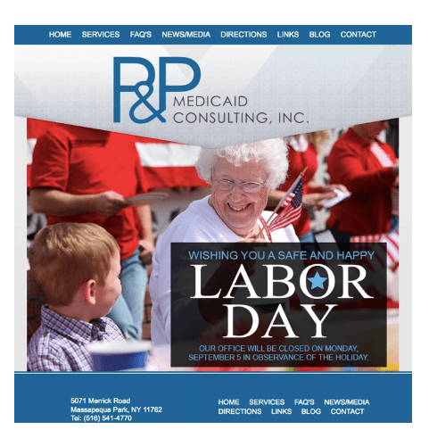 labor day promotions - business closing for labor day example