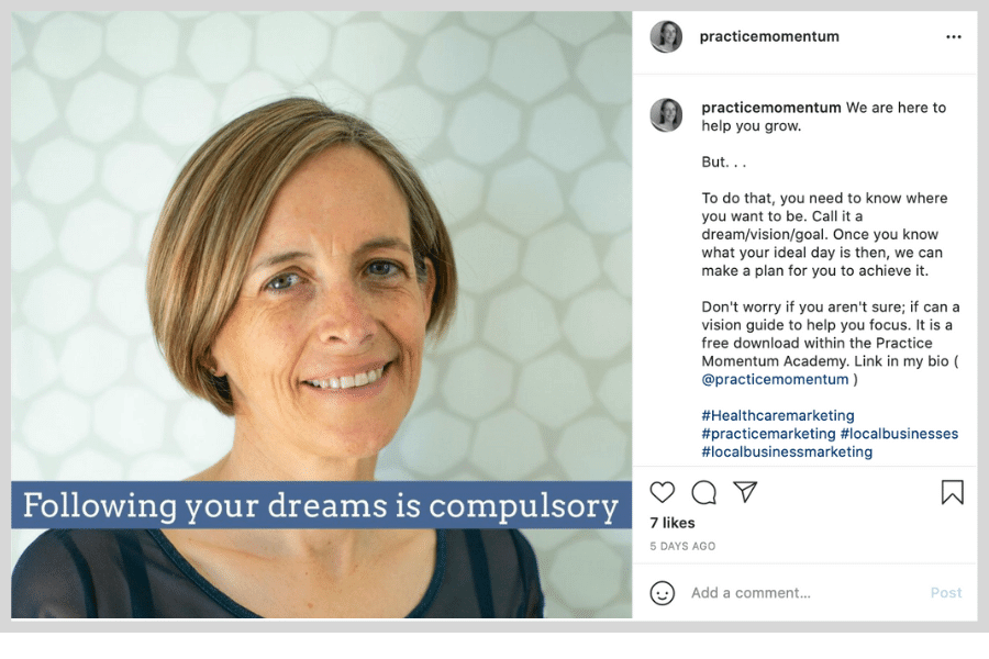 benefits of social media marketing - instagram post with human face