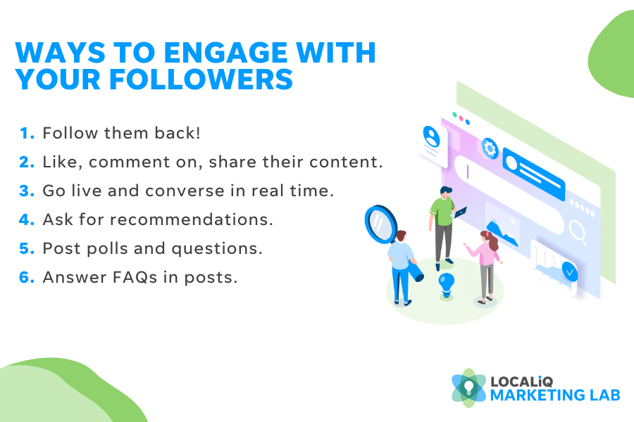 local social media marketing tip and best practices- ways to engage with followers