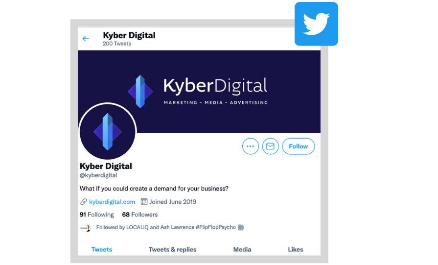local social media marketing twitter business profile
