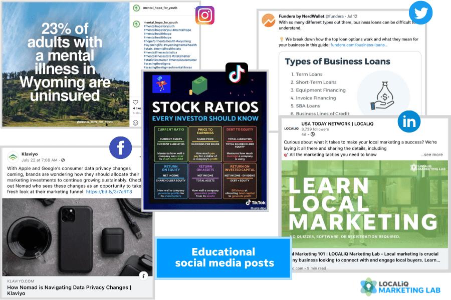 social media post ideas - educational post examples