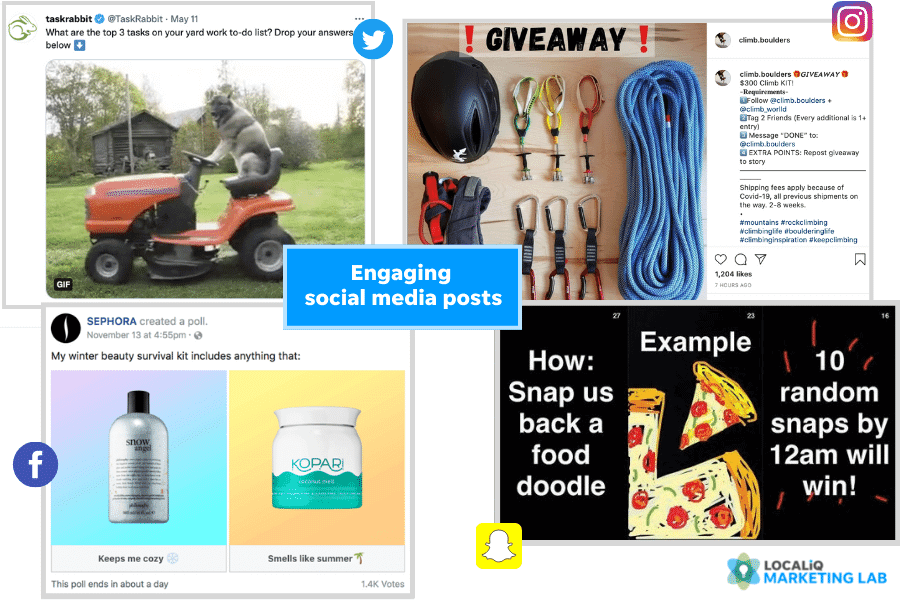 social media post ideas - engaging post examples