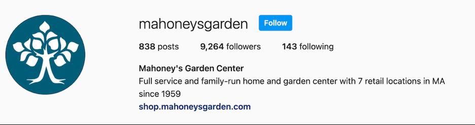 mahoneys garden business description