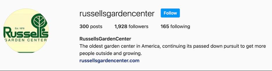 russell garden center business description
