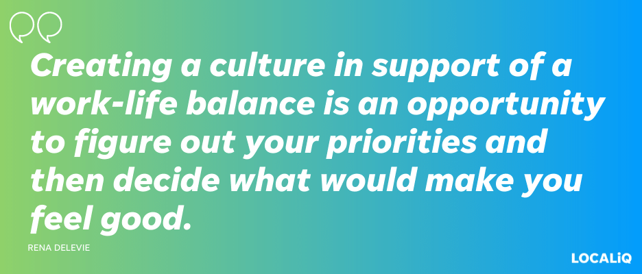 small business challenges - creating work life balance quote