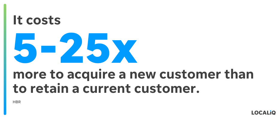 small business challenges - customer retention stat