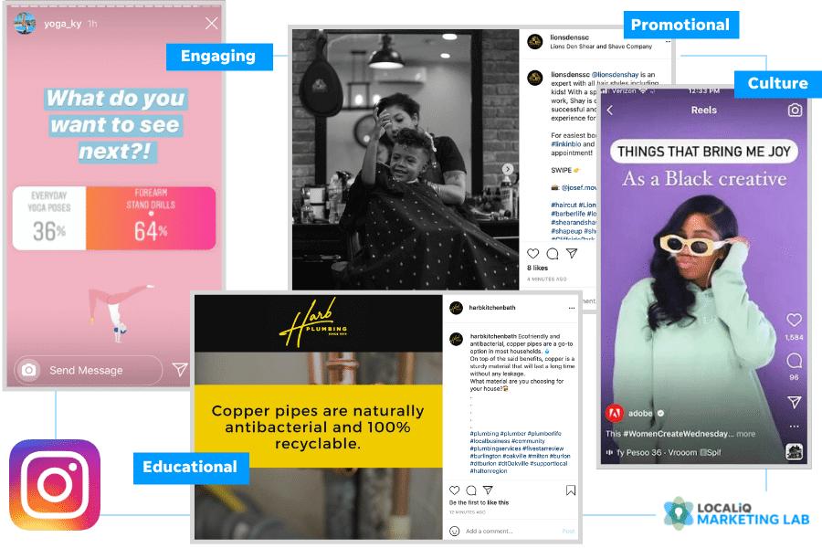 local social media marketing - instagram post ideas