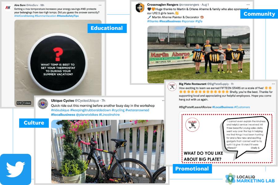 local social media marketing - twitter post ideas