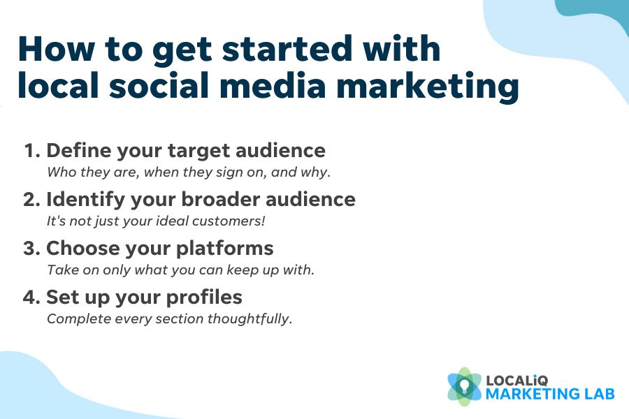 steps to a local social media marketing plan