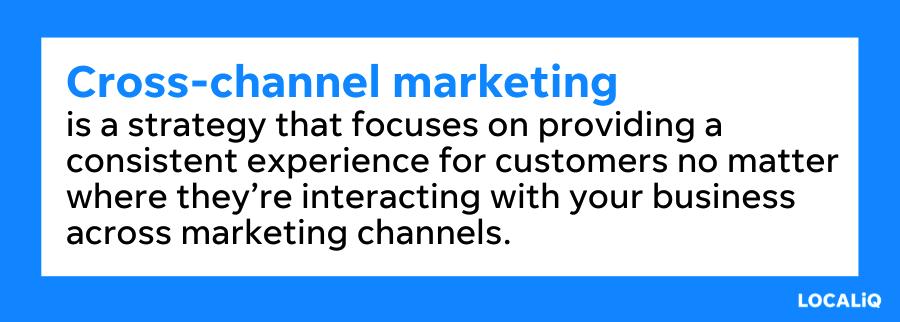 what is cross channel marketing
