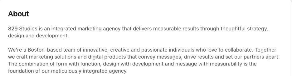 whats a business description