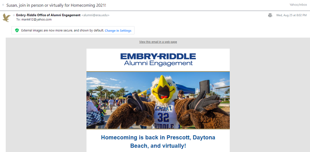 email subject lines - example of a personalized email